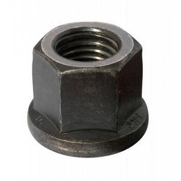 Гайка высокопрочная каленая высокая с фланцем DIN 6331  M8  Класс 10 (Фосфат) 1 шт