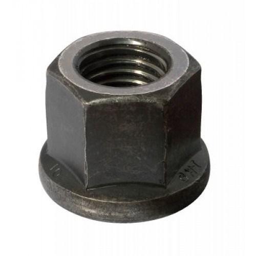 Гайка высокопрочная каленая высокая с фланцем DIN 6331  M12  Класс 10 (Фосфат) 1 шт