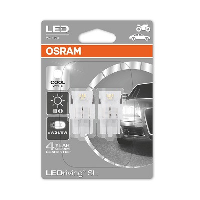 Светодиодные лампы OSRAM LEDriving W21/5W LED 12V 1.7W 6000K W3X16Q (7716CW-02B)