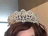 Lizy - Діадема копія великобританської корони золота з гребінцями (6 см), фото 3