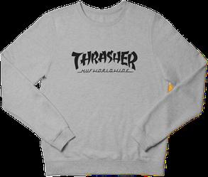 Свитшот реглан Thrasher (Premium-class) серый