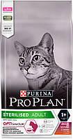 ProPlan Cat Sterilised для стерилизованных кошек с уткой и печенью, 1,5 кг