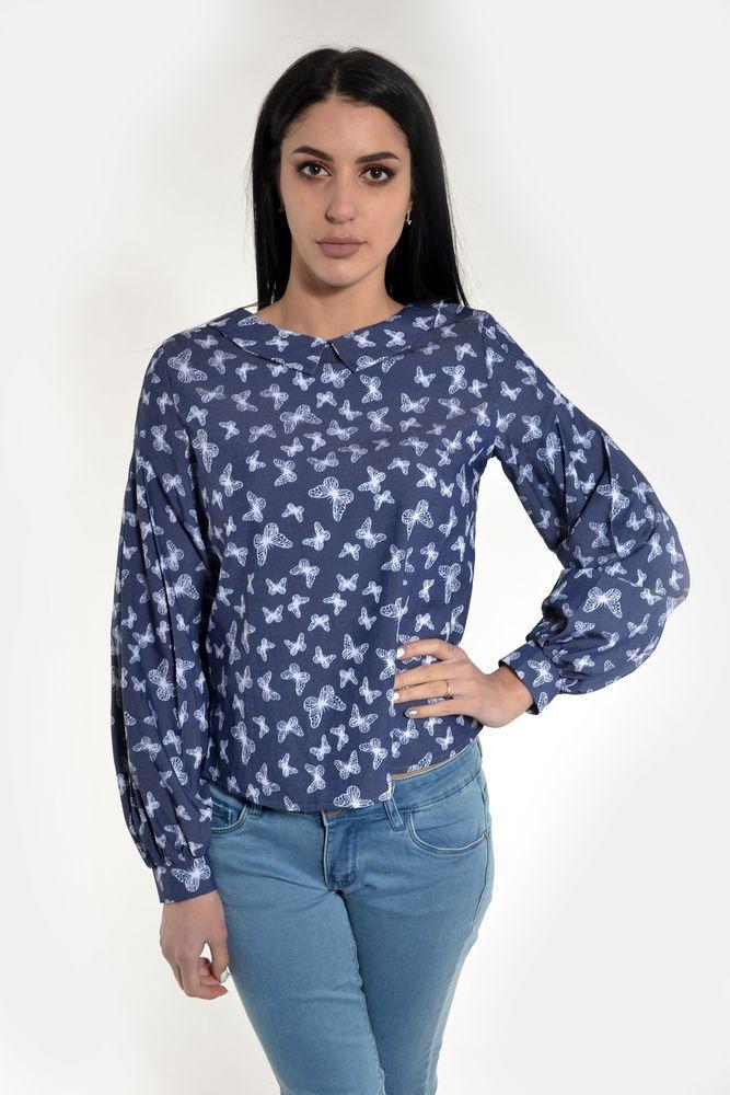 Блузка женская  цвет Джинс