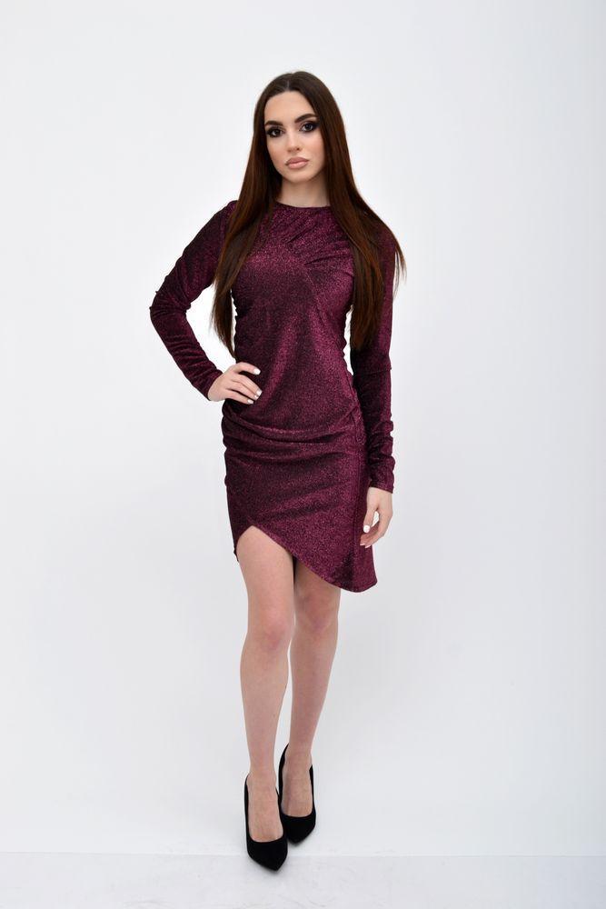 Платье женское цвет Бордовый размер 38