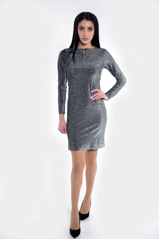 Платье женское цвет Серебристый размер 38