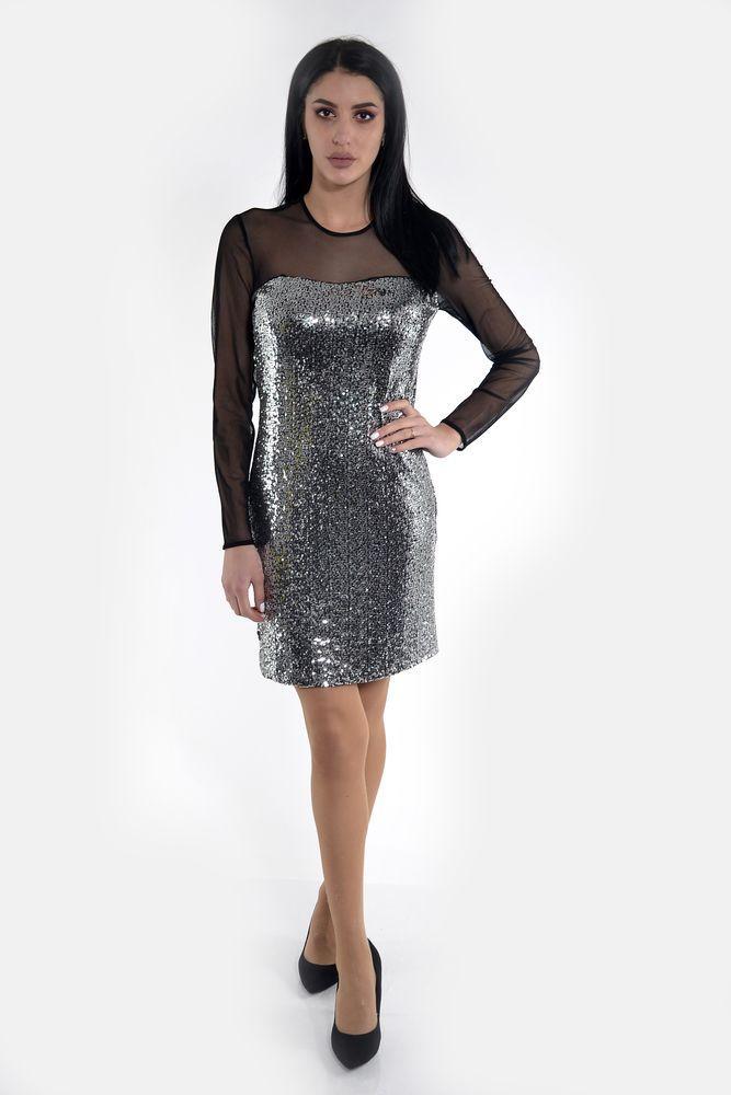 Платье женское  цвет Серебристый размер 36