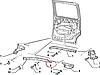 Направляющая нижняя тележки сдвижной двери Fiat Doblo 51769066