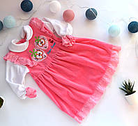 Платье велюровое для девочки 2/3 года (92- 98 см)