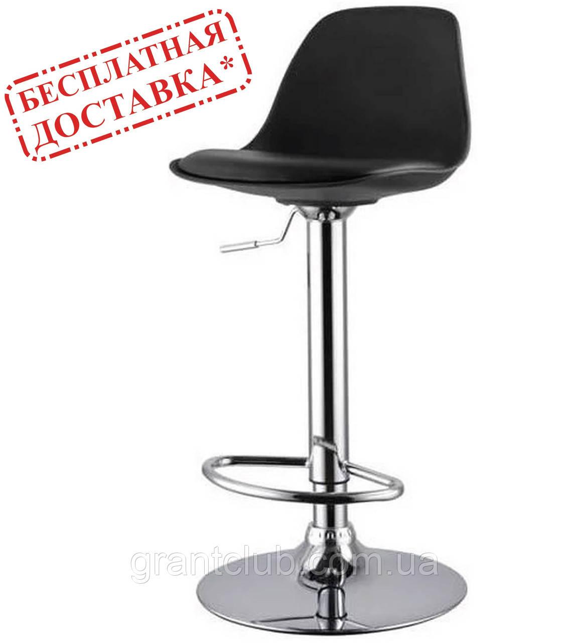 Стілець барний ТАУ Н чорний екокожа/пластик СДМ група (безкоштовна доставка)