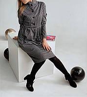 """Платье женское  """"Воротник стойка""""  на пуговках, с карманами, фасон - колокольчик, фото 1"""