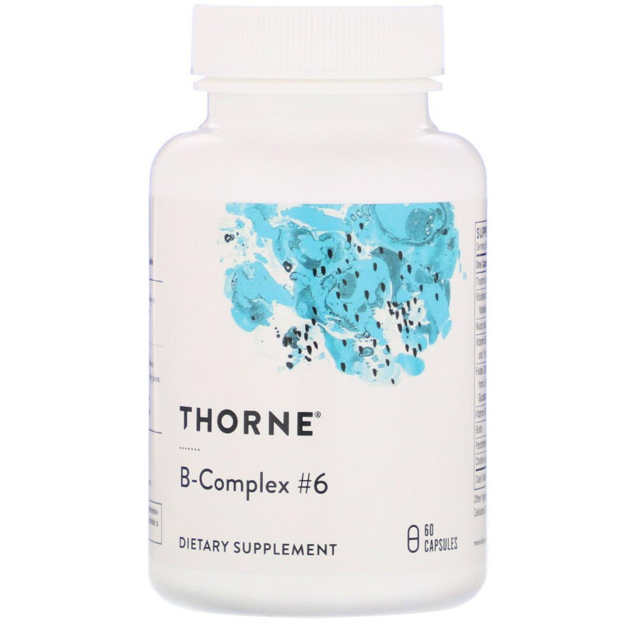 Комплекс витаминов B Thorne Research, B-Complex №6, 60 капсул
