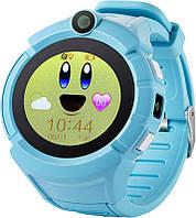 Детские наручные смарт часы Smart Baby Watch A17 Голубой