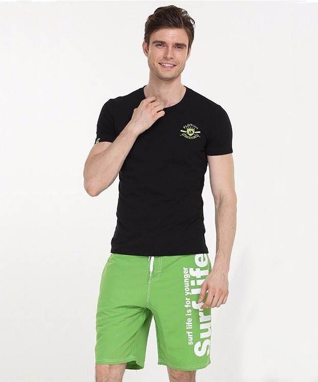 Пляжные зеленые шорты Gailang - №1151