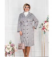 Платье-пальто женское большого размера черное