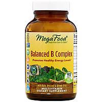 Сбалансированный комплекс витаминов группы В от MegaFood, 90 таблеток, фото 1