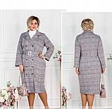 Платье-пальто женское большого размера бордовое, фото 2