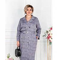 Платье-пальто женское большого размера фиолетовое