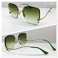 Женские солнцезащитные очки льдинки зелёные S31253, фото 1