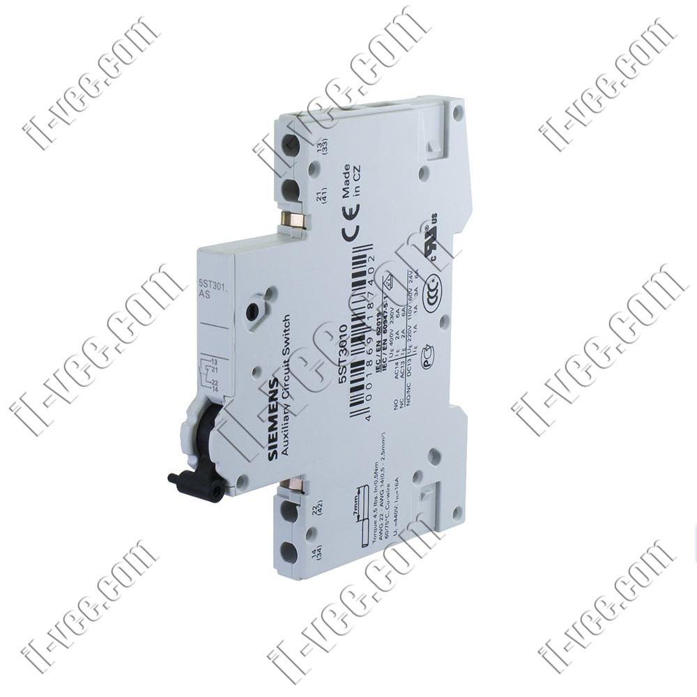 Блок вспомогательных контактов Siemens 5ST3010, 1NO+1NC