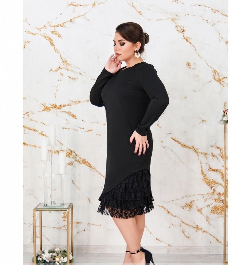 Платье А-силуэта, без застёжек и карманов №158Б-черный