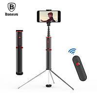 Селфи палка беспроводной монопод-штатив Baseus Fully Folding Bluetooth Selfie Stick SUDYZP-D19  (Черный/Красный)