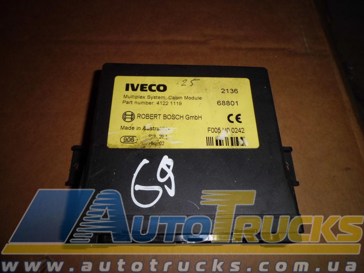 Блок управления Multiplex System Cabin Module Б/у для IVECO (41221119)