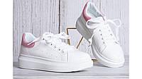 Женские кроссовки белые в стиле Adidas кожа Италия весна-осень 36-41