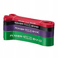 Эспандер-петля, резинка для фитнеса и спорта 4FIZJO Power Band 4 шт 6-36 кг 4FJ0063 - 227847