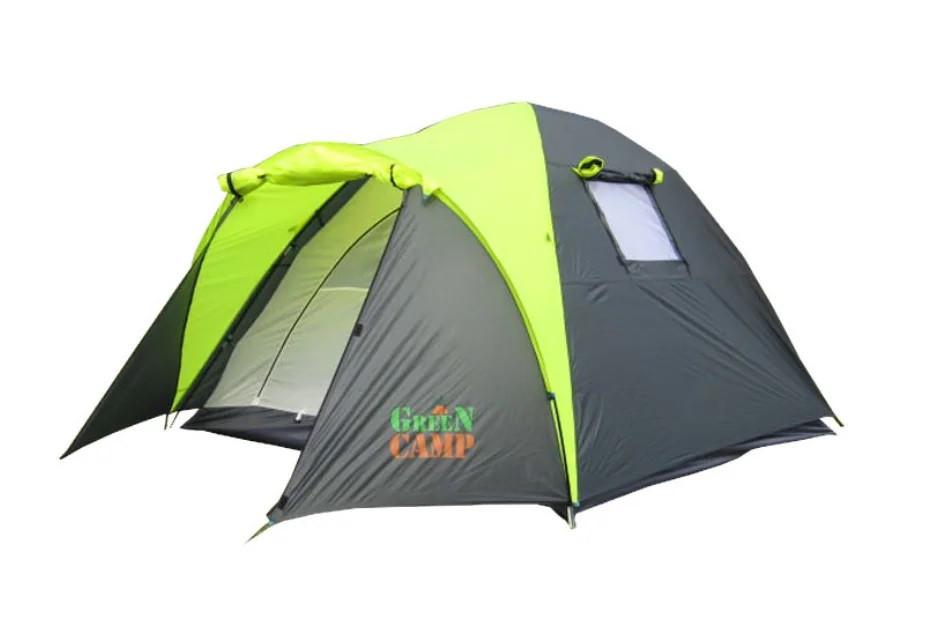Палатка 3-х местная GreenCamp 1011 на 1 вход