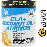 Жиросжигатель Bpi Sports CLA Plus Coconut Oil Plus Aminos 280г, апельсиновая свежесть