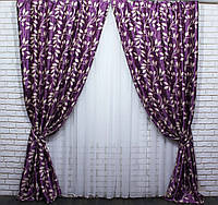 Шторная ткань блэкаут. Цвет фиолет/сирень