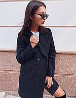 Пальто на подкладке черного цвета 42-44; 46-48 р.