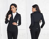 Стильний діловий жіночий приталений піджак на два гудзики і ззаду-шліца розміри 42-58. Арт-4075/58, фото 1