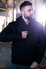 Утепленный анорак с капюшоном Hypnotic Intruder весна / осень черный XL 52, фото 2