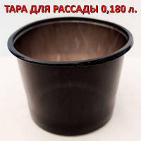 Горшок (стакан, тара) под рассаду (мягкий) 0,18 л. (180 мл.) без перфорации. ящ.1000 штук. Аркапласт
