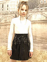 Юбка -карман ( кожа 20,черная)