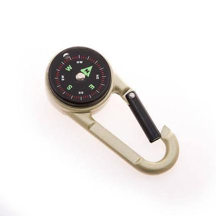 Компас магнитный с карабином D=28mm DC27T2 мини-компас для туриста, фото 2