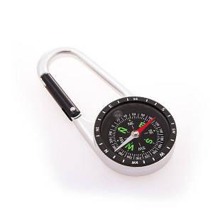 Компас для туриста магнитный с карабином D=45mm C40 походний мини компас на руку