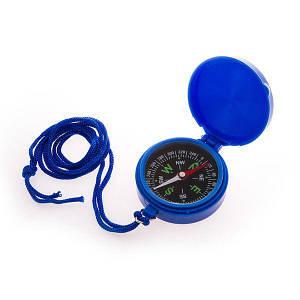 Компас магнитный для туриста DL45-7 диаметр 45 мм складной на ремешке для походов
