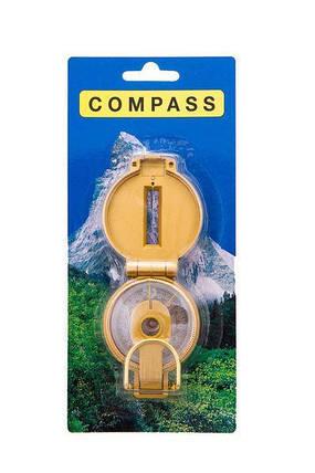 Компас жидкостный DL45-3C туристический кемпинговый диаметр 50 компас-медальон, фото 2