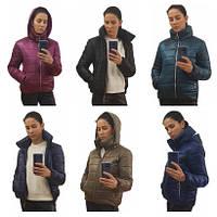 Куртка дутик женская демисезонная оптом, много расцветок, модель Мира, размеры 42-48