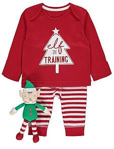 Детский костюм, пижамка Elf George (Англия) р.68см (3-6мес.)