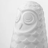 ІКЕА СОЛБУ Настільна лампа світлодіодна, біла сова, з батарейним живленням, 14 см, фото 2