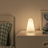 ІКЕА СОЛБУ Настільна лампа світлодіодна, біла сова, з батарейним живленням, 14 см, фото 3