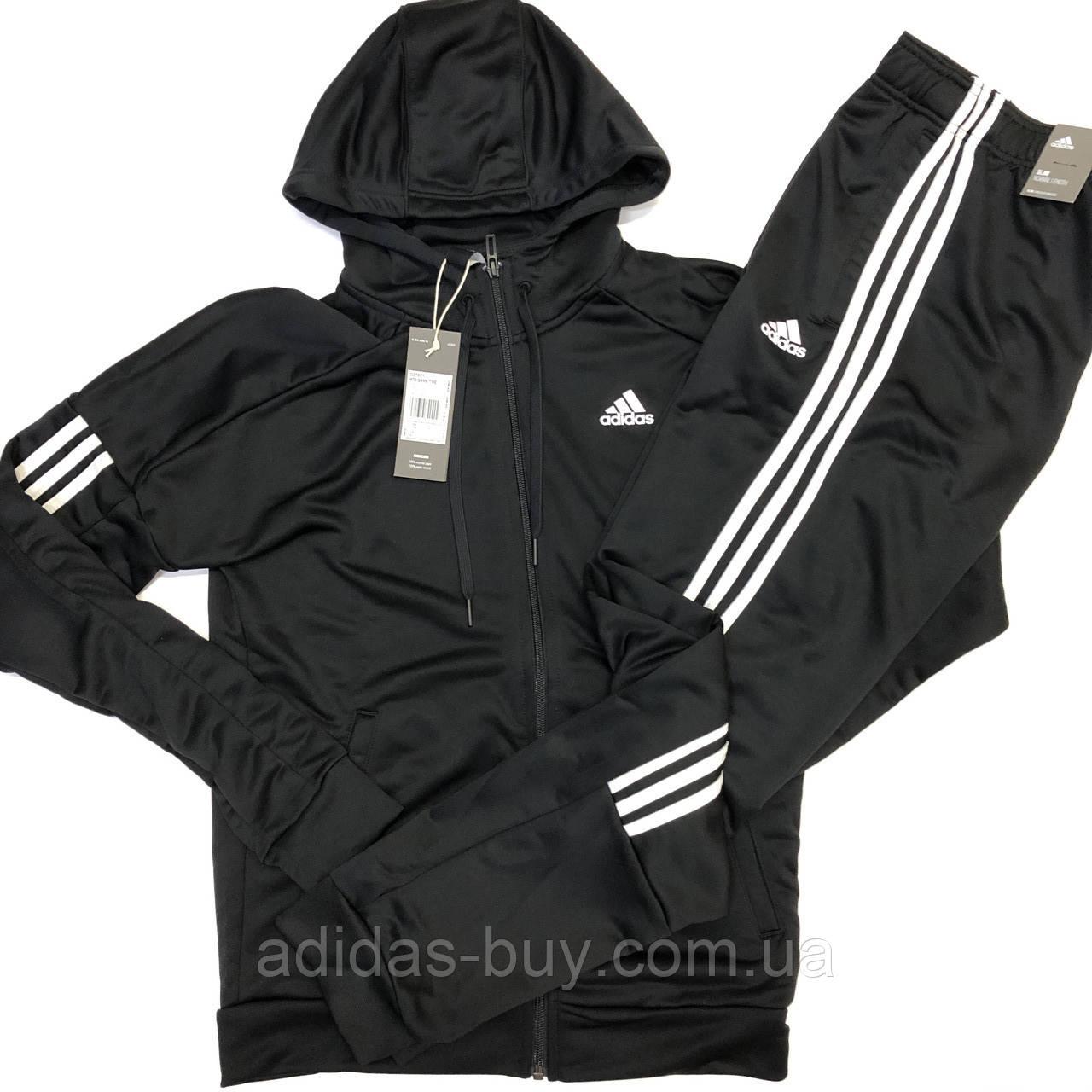 Adidas костюм спортивний чоловічий оригінал чорний весна осінь S M L XL