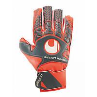 Вратарские перчатки Uhlsport Aerored Soft SF Junior Size 6 Orange-Grey - 227586