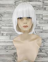 Парик женский каре белый с прямой челкой аниме косплей cosplay