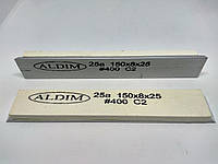Брусок на бланке ALDIM 150х25х8. 400 грит 25а - белый электрокорунд