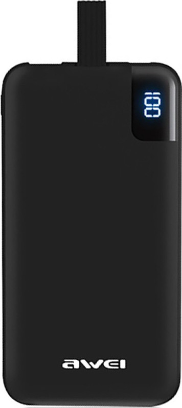 Портативная батарея AWEI P67K Power Bank 10000mAh Li-Polimer Black
