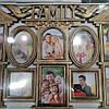 Фоторамка коллаж  Family/Семья домик 10 фото(10x10-2,10x15-8)  белая/бронза XZ-10